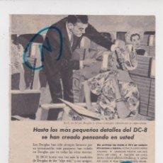 Coleccionismo de Revistas y Periódicos: PUBLICIDAD T 1960. ANUNCIO AVION DOUGLAS DC-8. Lote 210937634