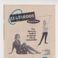 Coleccionismo de Revistas y Periódicos: PUBLICIDAD T 1960. ANUNCIO LEOTARDOS. QUALTRIX ESPAÑOLA, S.L.. Lote 210937722