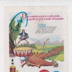 Coleccionismo de Revistas y Periódicos: PUBLICIDAD T 1960. ANUNCIO LICOR 43 - BRANDY VIEJO VETERANO OSBORNE (REVERSO). Lote 210938076