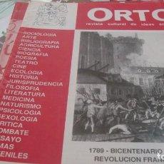 Coleccionismo de Revistas y Periódicos: ORTO. REVISTA CULTURAL DE IDEAS ACRATAS. AÑO X Nº 53 ENERO-FEBRERO 1989. Lote 210940121