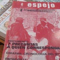 Coleccionismo de Revistas y Periódicos: REVISTA ESPEJO Nº 0 1997 REVISTA LIBERTARIA. Lote 210940645