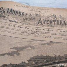Coleccionismo de Revistas y Periódicos: EL MUNDO DE LAS AVENTURAS (1894-1896) - DEL NÚMERO 1 AL 71, CONSECUTIVOS. Lote 210954891