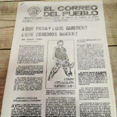 Coleccionismo de Revistas y Periódicos: TRANSICION-EL CORREO DEL PUEBLO-ORGANO CENTRAL DEL PARTIDO DEL TRABAJO DE ESPAÑA AÑO I Nº 16. Lote 211258647