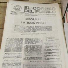 Coleccionismo de Revistas y Periódicos: TRANSICION-EL CORREO DEL PUEBLO-ORGANO CENTRAL DEL PARTIDO DEL TRABAJO DE ESPAÑA AÑO II Nº 35. Lote 211259871