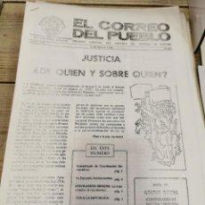 Coleccionismo de Revistas y Periódicos: TRANSICION-EL CORREO DEL PUEBLO-ORGANO CENTRAL DEL PARTIDO DEL TRABAJO DE ESPAÑA AÑO II Nº 37. Lote 211259926