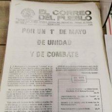 Coleccionismo de Revistas y Periódicos: TRANSICION-EL CORREO DEL PUEBLO-ORGANO CENTRAL DEL PARTIDO DEL TRABAJO DE ESPAÑA AÑO II Nº 38. Lote 211259979