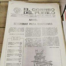Coleccionismo de Revistas y Periódicos: TRANSICION-EL CORREO DEL PUEBLO-ORGANO CENTRAL DEL PARTIDO DEL TRABAJO DE ESPAÑA AÑO II Nº 39. Lote 211260170