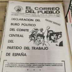 Coleccionismo de Revistas y Periódicos: TRANSICION-EL CORREO DEL PUEBLO-ORGANO CENTRAL DEL PARTIDO DEL TRABAJO DE ESPAÑA AÑO II Nº 49. Lote 211260901