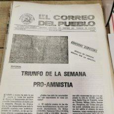 Coleccionismo de Revistas y Periódicos: TRANSICION-EL CORREO DEL PUEBLO-ORGANO CENTRAL DEL PARTIDO DEL TRABAJO DE ESPAÑA AÑO II Nº 50. Lote 211261672