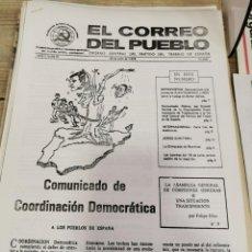 Coleccionismo de Revistas y Periódicos: TRANSICION-EL CORREO DEL PUEBLO-ORGANO CENTRAL DEL PARTIDO DEL TRABAJO DE ESPAÑA AÑO II Nº 51. Lote 211261715