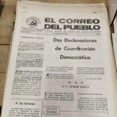 Coleccionismo de Revistas y Periódicos: TRANSICION-EL CORREO DEL PUEBLO-ORGANO CENTRAL DEL PARTIDO DEL TRABAJO DE ESPAÑA AÑO II Nº 53. Lote 211261779