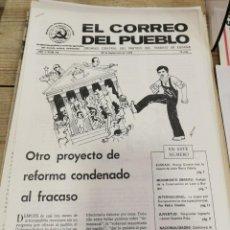 Coleccionismo de Revistas y Periódicos: TRANSICION-EL CORREO DEL PUEBLO-ORGANO CENTRAL DEL PARTIDO DEL TRABAJO DE ESPAÑA AÑO II Nº 58. Lote 211261921