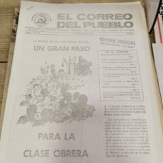 Coleccionismo de Revistas y Periódicos: TRANSICION-EL CORREO DEL PUEBLO-ORGANO CENTRAL DEL PARTIDO DEL TRABAJO DE ESPAÑA AÑO II Nº 67. Lote 211262180