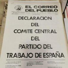 Coleccionismo de Revistas y Periódicos: TRANSICION-EL CORREO DEL PUEBLO-ORGANO CENTRAL DEL PARTIDO DEL TRABAJO DE ESPAÑA AÑO II Nº 69. Lote 211262226