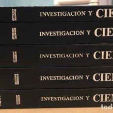 Colecionismo de Revistas e Jornais: INVESTIGACIÓN Y CIENCIA (SCIENTIFIC AMERICAN). 5 TOMOS CON LAS REVISTAS ENCUADERNAS (N° 1 AL 27).. Lote 177952828