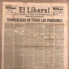 Coleccionismo de Revistas y Periódicos: EL LIBERAL (BILBAO, 3 DE OCTUBRE DE 1909). ANTIGUO PERIÓDICO. PAZ EN LA GUERRA. Lote 211438906
