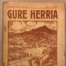 Coleccionismo de Revistas y Periódicos: GURE HERRIA (HIRUGARREN URTEA) N° 5 (1923). ANTIGUA REVISTA VASCA.. Lote 211439531