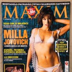 Coleccionismo de Revistas y Periódicos: MAXIM N° 7 (NOVIEMBRE 2004). LOQUILLO, MILLA JOVOVICH, ROCIO MADRID,.... Lote 211520299