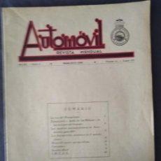 Coleccionismo de Revistas y Periódicos: AUTOMOVIL REVISTA MENSUAL AÑO XIII EPOCA II NUMERO 141 MARZO 1937 MUTUA DE CHOFFERS DE BARCELONA. Lote 211685904