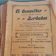 Coleccionismo de Revistas y Periódicos: EL CONSULTOR DE BORDADOS, AÑO 1916 ENTERO. Lote 211686029