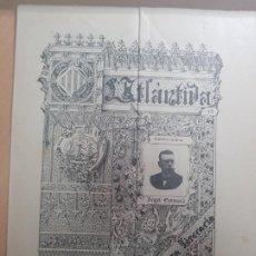 Coleccionismo de Revistas y Periódicos: ANTIGUA REVISTA LITERARIA CATALAN L'ATLANTIDA ANGEL GUIMERA BARCELONA S XIX 1897. Lote 211757230