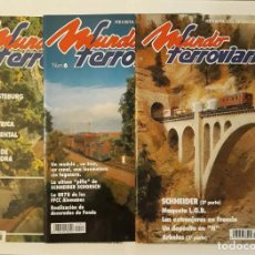 Coleccionismo de Revistas y Periódicos: TRES REVISTAS MUNDO FERROVIARIO N° 4 , 5 Y 6. AÑO 1993. Lote 211796992