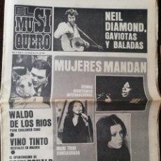Coleccionismo de Revistas y Periódicos: REVISTA EL MUSIQUERO Nº 6 MASSIEL CECILIA NEIL DIAMOND WALDO DE LOS RIOS VINO TINTO JULIO IGLESIAS. Lote 211816663