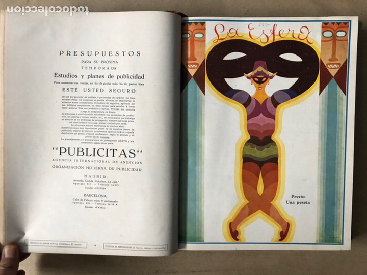 Coleccionismo de Revistas y Periódicos: LA ESFERA ILUSTRACIÓN MUNDIAL (1927). LOTE DE 16 REVISTAS ENCUADERNADAS. - Foto 5 - 211900152