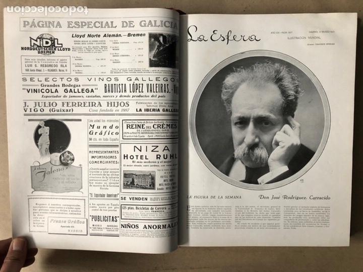Coleccionismo de Revistas y Periódicos: LA ESFERA ILUSTRACIÓN MUNDIAL (1927). LOTE DE 16 REVISTAS ENCUADERNADAS. - Foto 6 - 211900152