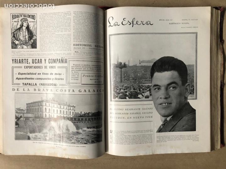 Coleccionismo de Revistas y Periódicos: LA ESFERA ILUSTRACIÓN MUNDIAL (1927). LOTE DE 16 REVISTAS ENCUADERNADAS. - Foto 30 - 211900152