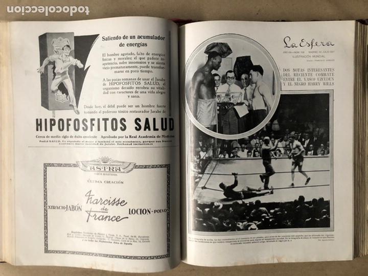 Coleccionismo de Revistas y Periódicos: LA ESFERA ILUSTRACIÓN MUNDIAL (1927). LOTE DE 16 REVISTAS ENCUADERNADAS. - Foto 34 - 211900152