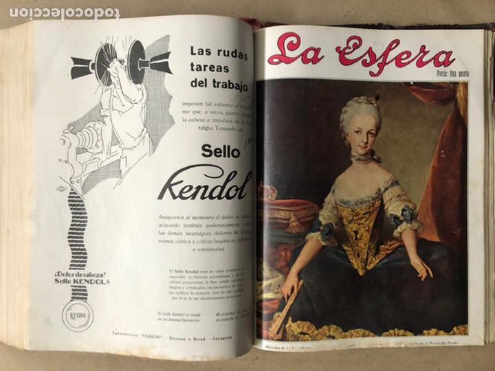 Coleccionismo de Revistas y Periódicos: LA ESFERA ILUSTRACIÓN MUNDIAL (1927). LOTE DE 16 REVISTAS ENCUADERNADAS. - Foto 55 - 211900152