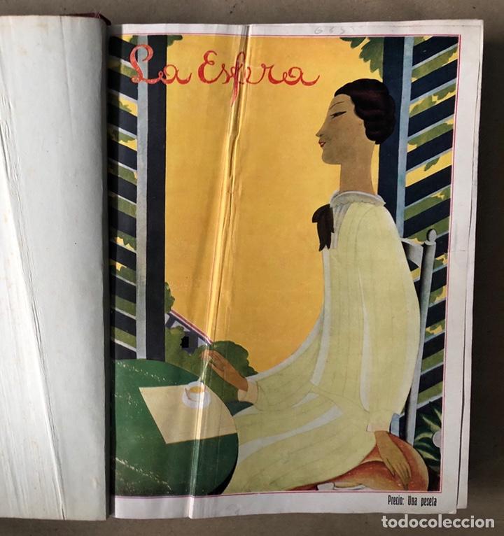 LA ESFERA ILUSTRACIÓN MUNDIAL (1927). LOTE DE 16 REVISTAS ENCUADERNADAS. (Coleccionismo - Revistas y Periódicos Antiguos (hasta 1.939))