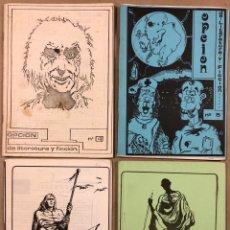 Coleccionismo de Revistas y Periódicos: OPCIÓN DE LITERATURA Y FICCIÓN N° 4, 5, 6 Y 7 (SANTURTZI 1983). HISTÓRICO FANZINE ORIGINAL.. Lote 212180356