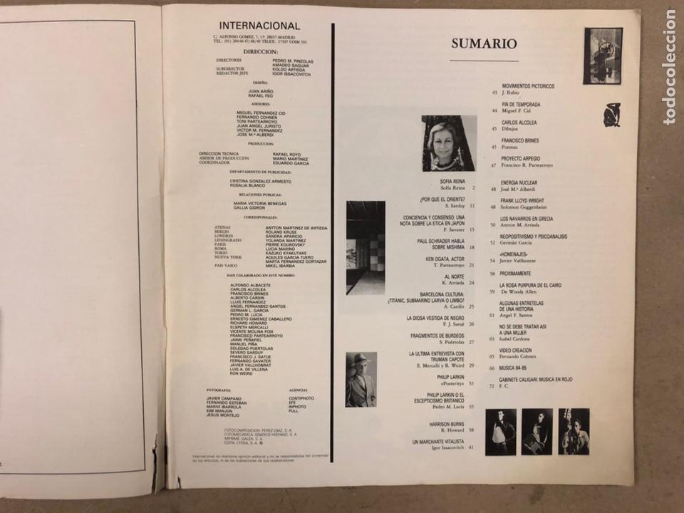 Coleccionismo de Revistas y Periódicos: INTERNACIONAL N° 1 (MADRID 1985). HISTÓRICA REVISTA FANZINE; GABINETE CALIGARI, TRUMAN CAPOTE,... - Foto 2 - 212221960
