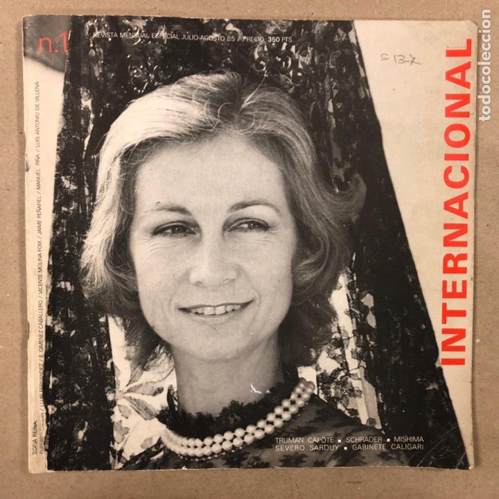 INTERNACIONAL N° 1 (MADRID 1985). HISTÓRICA REVISTA FANZINE; GABINETE CALIGARI, TRUMAN CAPOTE,... (Coleccionismo - Revistas y Periódicos Modernos (a partir de 1.940) - Otros)