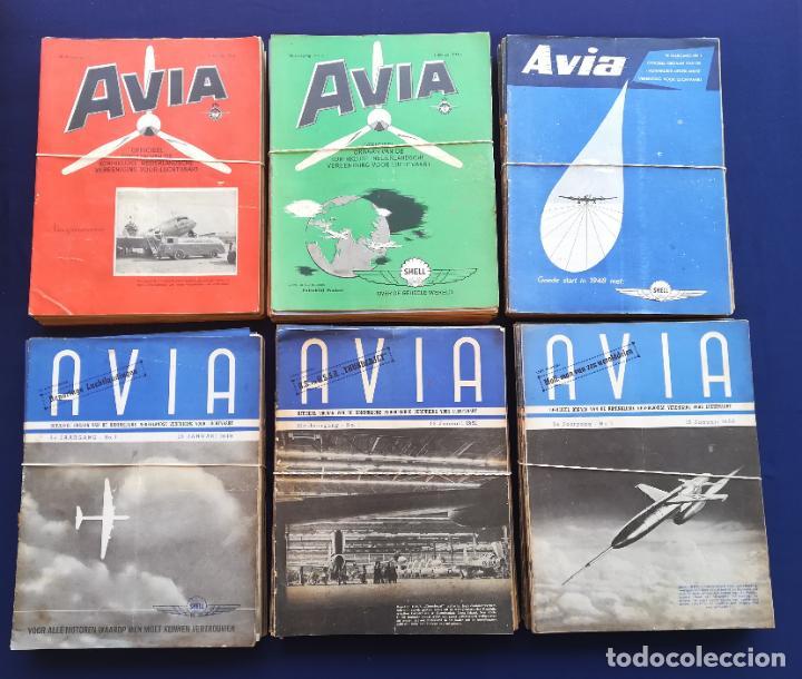Coleccionismo de Revistas y Periódicos: Revistas aviación holandesas: Vliegwereld 1939-51 Avia 1946-51 Vliegsport 1935-39 y Kijk, más de 600 - Foto 3 - 212244936