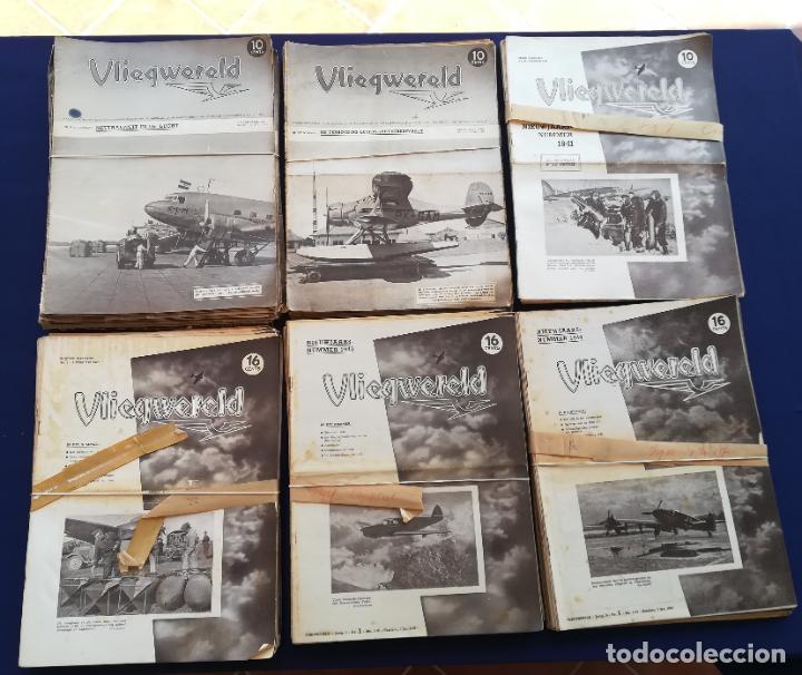 Coleccionismo de Revistas y Periódicos: Revistas aviación holandesas: Vliegwereld 1939-51 Avia 1946-51 Vliegsport 1935-39 y Kijk, más de 600 - Foto 4 - 212244936