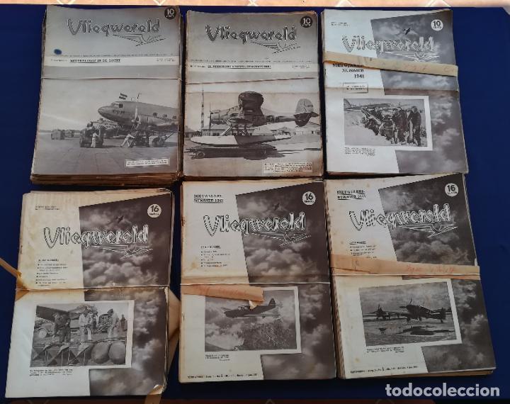 Coleccionismo de Revistas y Periódicos: Revistas aviación holandesas: Vliegwereld 1939-51 Avia 1946-51 Vliegsport 1935-39 y Kijk, más de 600 - Foto 6 - 212244936
