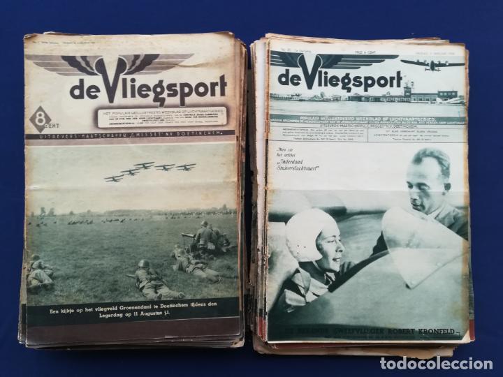 Coleccionismo de Revistas y Periódicos: Revistas aviación holandesas: Vliegwereld 1939-51 Avia 1946-51 Vliegsport 1935-39 y Kijk, más de 600 - Foto 2 - 212244936