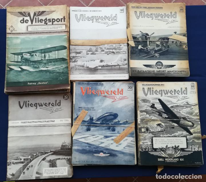Coleccionismo de Revistas y Periódicos: Revistas aviación holandesas: Vliegwereld 1939-51 Avia 1946-51 Vliegsport 1935-39 y Kijk, más de 600 - Foto 7 - 212244936