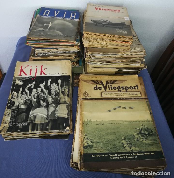 Coleccionismo de Revistas y Periódicos: Revistas aviación holandesas: Vliegwereld 1939-51 Avia 1946-51 Vliegsport 1935-39 y Kijk, más de 600 - Foto 9 - 212244936
