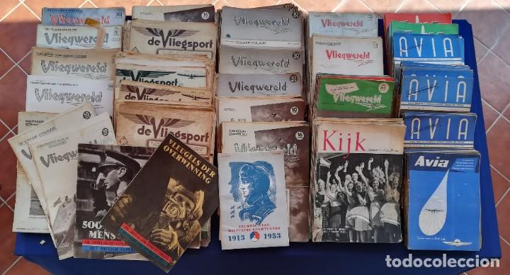 REVISTAS AVIACIÓN HOLANDESAS: VLIEGWERELD 1939-51 AVIA 1946-51 VLIEGSPORT 1935-39 Y KIJK, MÁS DE 600 (Coleccionismo - Revistas y Periódicos Modernos (a partir de 1.940) - Otros)