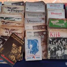 Coleccionismo de Revistas y Periódicos: REVISTAS AVIACIÓN HOLANDESAS: VLIEGWERELD 1939-51 AVIA 1946-51 VLIEGSPORT 1935-39 Y KIJK, MÁS DE 600. Lote 212244936