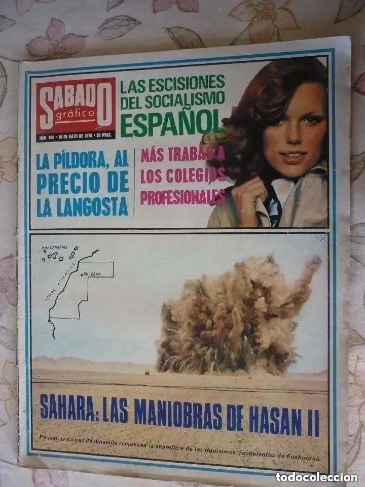 REVISTA SÁBADO GRÁFICO Nº 936 - 1975 (Coleccionismo - Revistas y Periódicos Modernos (a partir de 1.940) - Otros)