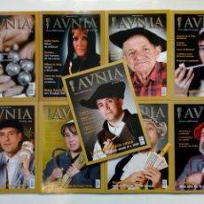 Coleccionismo de Revistas y Periódicos: LOTE DE 9 REVISTAS - AUNIA (NUMS. 5, 13, 15, 17, 19, 20, 26, 28 Y 29) - AVNIA CULTURA HISTORIA VASCA. Lote 212918903