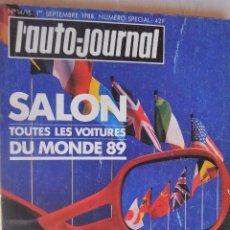 Colecionismo de Revistas e Jornais: REVISTA L`AUTO JOURNAL SALON TODOS LOS COCHES DE 1989. Lote 212975597