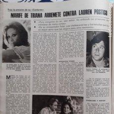 Collezionismo di Riviste e Giornali: MARIFE DE TRIANA CANTARES LAUREN POSTIGO. Lote 213164632