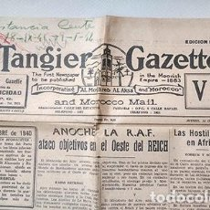 Collectionnisme de Revues et Journaux: TÁNGER, 16 OCTUBRE 1941. TANGIER GAZETTE (INCORPORATING AL MOGHREB AL AKSA AND MOROCCO MAIL). Lote 213277650