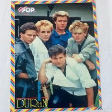Coleccionismo de Revistas y Periódicos: POSTER SUPER POP ORIGINAL, AÑOS 80. DURAN DURAN Y AL REVERSO BILLY HUFSEY. Lote 213769342